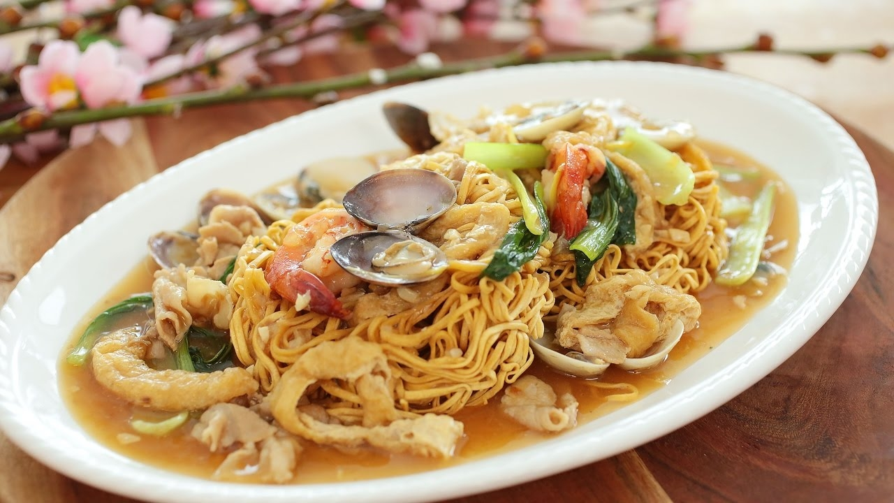 Seafood Combination Chow Mein