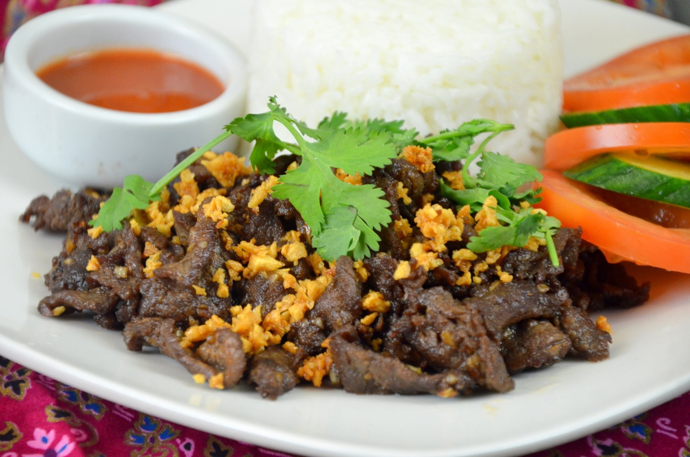 Thai Garlic Beef
